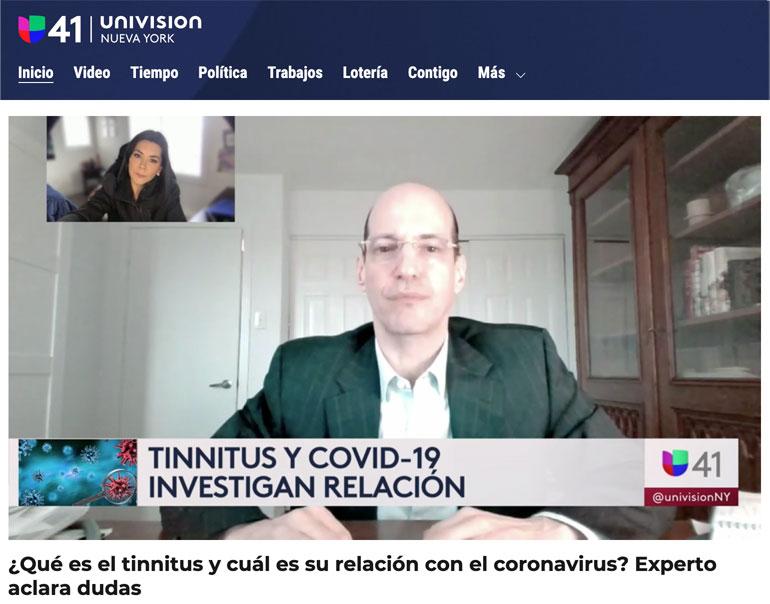 Stephen Geller Katz | Tinnitus & Covid | Univision NY Interview | June 2021